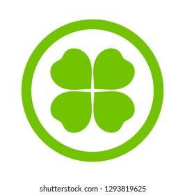 Clover leaf icon. Vector illustration.