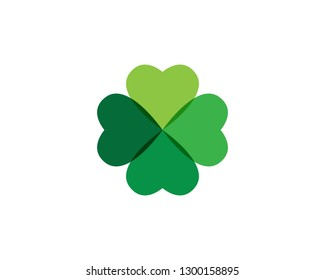 Clover leaf logo icon design template vector