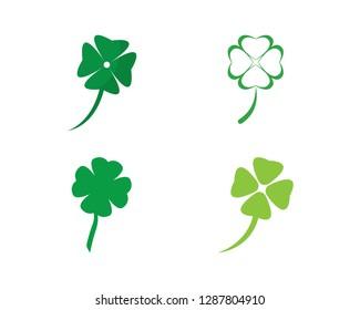Clover Leaf Logo Template Design Vector - Vector