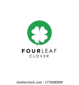 clover leaf logo vector template icon, logo design inspiration