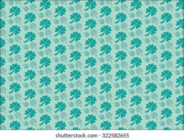 Clover leaf pattern design. The vector illustration can be used to express the concepts of luck and/or St. Patricks day.