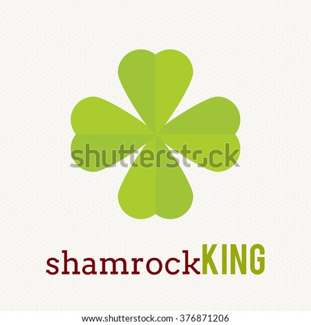 clover leaf plant logo icon template stock vector royalty free
