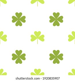 Clover leaf seamless vector illustration. The symbol of St. Patrick's Day, the Irish happy background.
