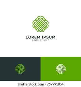clover leaf vector, clover logo template download