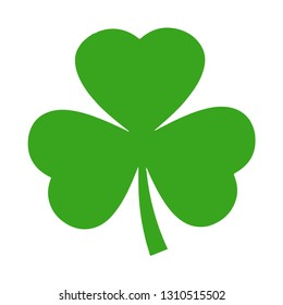 Clover Leaves icon with three-leaved shamrocks. St. Patrick's day holiday symbol. leprechaun .