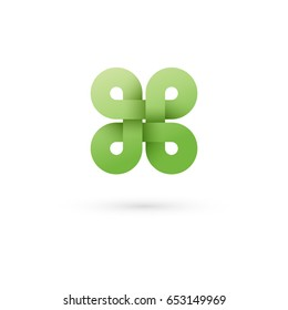 Clover. Modern icon design logo element. Best for identity and logotypes.