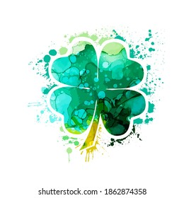 Clover multicolored. Happy St. Patrick's Day. Vector illustration