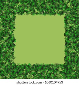 Clover pattern is a confetti which consist of many isolated elements. Stylish and beautiful clover pattern. Can be used as poster, border, background, wallpaper, card and etc