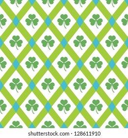 Clover pattern. Vector spring seamless background.