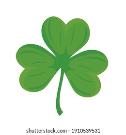 clover with three leafs nature icon vector illustration design