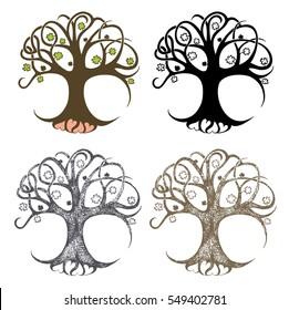 Clover tree vector illustration