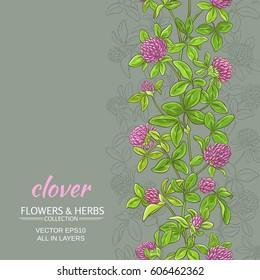 clover vector background