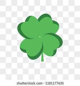 Clover vector icon isolated on transparent background, Clover logo concept