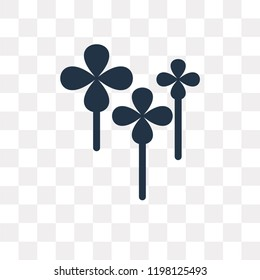 Clover vector icon isolated on transparent background, Clover transparency concept can be used web and mobile