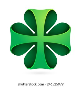 Clover vector logo icon design template element. Clover leaf. Happy St. Patrick's Day icon