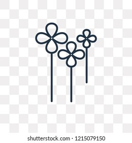 Clover vector outline icon isolated on transparent background, high quality linear Clover transparency concept can be used web and mobile