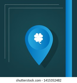 Cloverleaf - map pin. usb connected logo concept