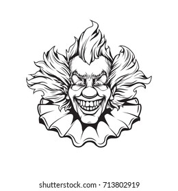 clown adult coloring page