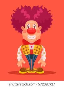 Clown character. Vector flat cartoon illustration
