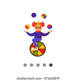 Clown Character Vector Icon 3