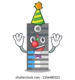Clown data server above the cartoon tables