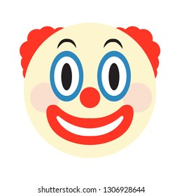 Clown emoji face vector