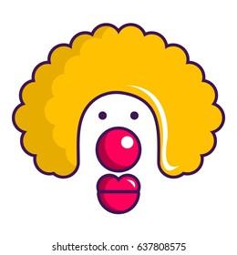 Clown face icon. Cartoon illustration of clown face vector icon for web