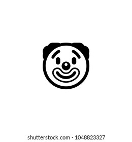 Clown face icon. Clown vector illustration