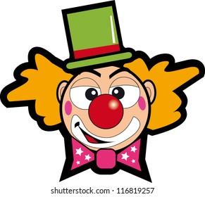 clown face. A clown face for a sticker.