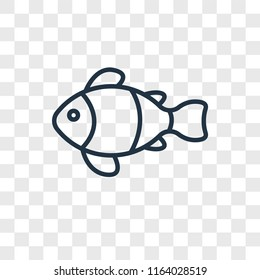 Clown fish vector icon isolated on transparent background, Clown fish logo concept