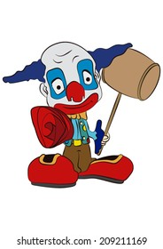 clown with hammer