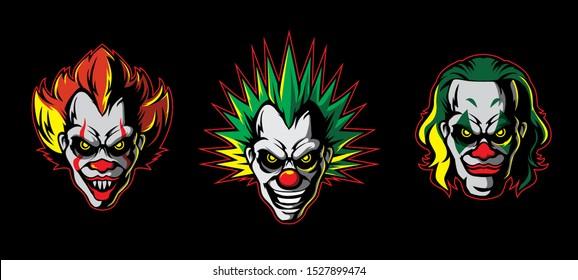 clown icon suitable for e-sport team logo or else