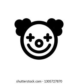 Clown icon,vector illustration. Flat design style. vector clown icon illustration isolated on White background, clown icon Eps10. clown icons graphic design vector symbols.