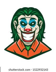 Clown Joker Smile Mascot Vector
