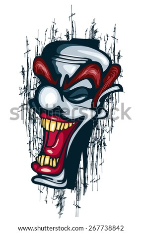 clown laughing vector tattoo joker scary stock vector royalty free
