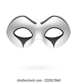 Clown, mime mask. Vector.