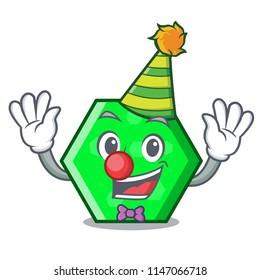 Clown octagon mascot cartoon style
