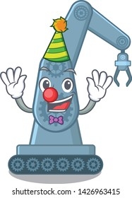 Clown toy mechatronic robot arm cartoon shape