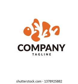 clownfish logo vector