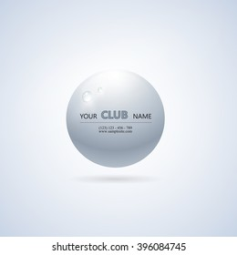 Club, company logo template.The bulb with the glare.Vector illustration.