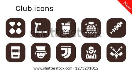 club icon set 10