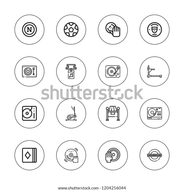 Club Icon Set Collection 16 Outline Stock Vector (Royalty Free