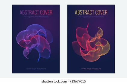 Club party waves poster. Abstract music background illustration. Creative abstract waves motion with bright gradient colors. Futuristic gradient shapes.