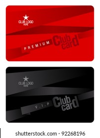 Club plastic card design template.