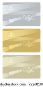 Club plastic cards design template.