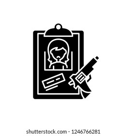 Clues black icon, vector sign on isolated background. Clues concept symbol, illustration