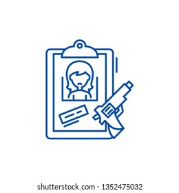 Clues line icon concept. Clues flat  vector symbol, sign, outline illustration.