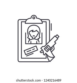 Clues line icon concept. Clues vector linear illustration, symbol, sign