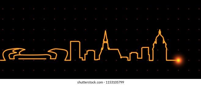 Cluj-Napoca Light Streak Skyline