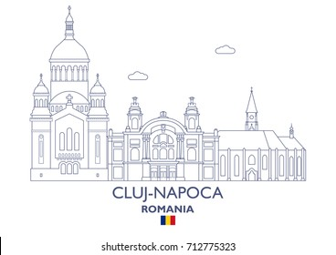 Cluj-Napoca Linear City Skyline, Romania